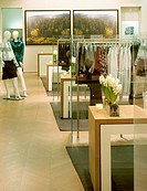 BURBERRY STORE & DESIGN STUDIO, MILAN, ITALY, VIRGILE AND STONE ASSOCIATES LTD, INTERIOR, 1ST FLOOR WITH DIGITAL PAINTING