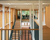 BEDALES SCHOOL ORCHARD DEVELOPMENT, CHURCH ROAD, STEEP, PETERSFIELD, HAMPSHIRE, UK, WALTERS & COHEN, INTERIOR, FIRST FLOOR CIRCULATION.