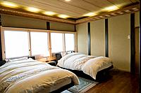 Japan, traditional home interior, bedroom