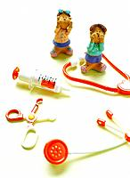 Paper clay toy, two kids