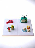 Paper clay toy, TV