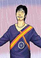Young man under the rain (thumbnail)
