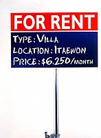 For rent sign board