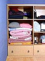 Storage compartmentm and blanket
