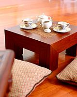 Small table and cushion in the living room