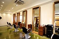 Interior view of hair saloon shop