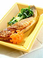 Grilled fish with vegetables (thumbnail)