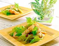 Asian seafood cuisine with variety of shrimp, fish and shell
