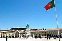 Square and sculpture, Portugal