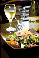 Salad and wine (thumbnail)