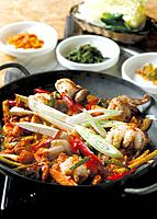 Seafood and vegetables, Korean style