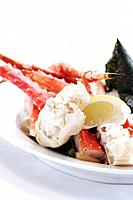 Crab with lemon