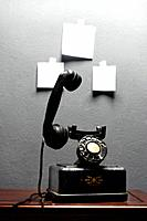 Telephone and paper