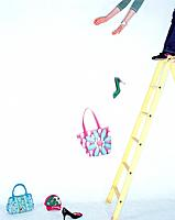 Ladder, handbags and shoes