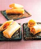 Asian food, spring roll
