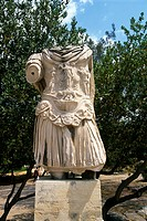 Athens Greece Ancient Agora Emperor Hadrian Statue