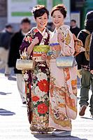 Asian women in traditional dress