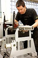 Balance analysis, spindle manufacturing. Mendaro, Gipuzkoa, Euskadi, Spain