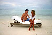 Man and woman in Maldives