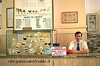 Traditional Ice Cream at 'Palazzo del freddo'. Rome. Italy