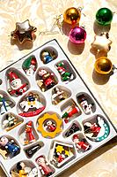 Variety of Christmas ornaments