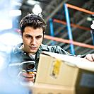 Warehouse Worker Scanning Barcode (thumbnail)