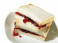 Jam Sandwich on White Bread