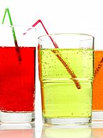 Food _ Glasses of fizzy drinks