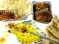 Containers of Indian Takeaway Food