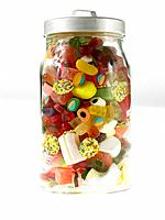 Assorted Sweets and candies in a Jar