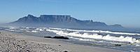 Beach in Cape Town and Table Mountain South Africa (thumbnail)