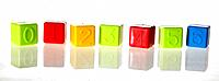 Colourful Building Blocks with numbers from zero to six