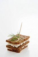 Pumpernickel with fish paste