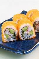 California rolls coated in caviar