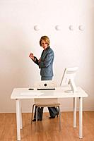 Businesswoman near computer