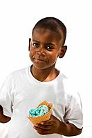 Boy with ice cream cone