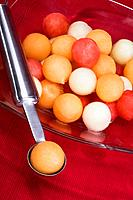 Assorted melon balls