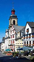 Germany, Hachenburg, Rothenbach, Nister, Nister Valley, Westerwald, Rhineland-Palatinate, market place, catholic church, parish church Maria Himmelfah...