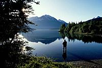 Fisherman Trail Lake Kenai Mtns Spin Fishing AK Summer Scenic Reflection Kenai Peninsula