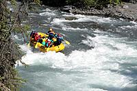Whitewater Rafters on 6_Mile Crk KP Alaska Summer