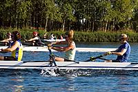 Members Of Anchorage Rowing Association Practice on Sand Lake SC AK Summer