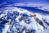 Dehavilland Turbine Otter on Skis Near Alaska Range