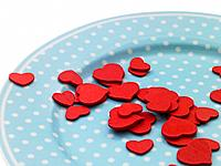 Plateful of valentine hearts