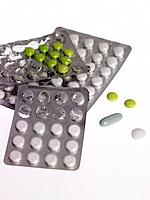 Close_up of pills in blister packs