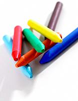 Close_up of colored crayons