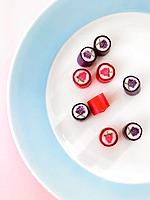 Close-up of candies on a plate (thumbnail)