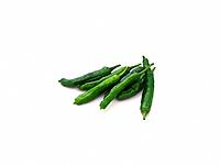 Green chili peppers, shishito, high angle view