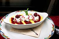 Enjoy fine dining with a Raspberry dessert