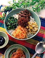 Bibimbap, High Angle View