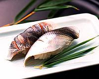 Kohada, hand shaped sushi